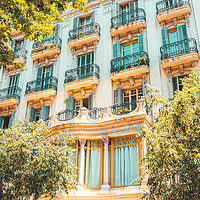 Buy canvas prints of Facade Building Architecture, City Of Barcelona by Radu Bercan