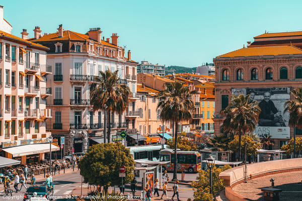 Beautiful Exotic City Of Cannes, Cote D'Azur Framed Mounted Print by Radu Bercan