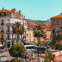 Buy canvas prints of Beautiful Exotic City Of Cannes, Cote D'Azur by Radu Bercan