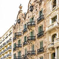 Buy canvas prints of Casa Calvet, Antoni Gaudi Architecture Barcelona by Radu Bercan