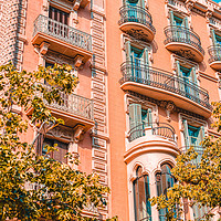 Buy canvas prints of Barcelona City Spain, Urban Architecture Facade by Radu Bercan