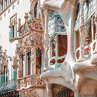 Buy canvas prints of Casa Batllo, Antoni Gaudi Architecture, Barcelona by Radu Bercan