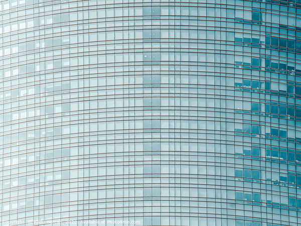Glass Abstract, Skyscraper Tower, Lines Pattern Framed Mounted Print by Radu Bercan