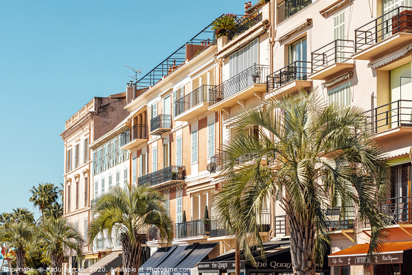 Cannes City Panoramic View, Cote D'Azur France Framed Print by Radu Bercan