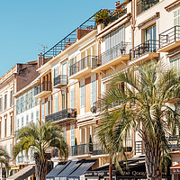 Buy canvas prints of Cannes City Panoramic View, Cote D'Azur France by Radu Bercan