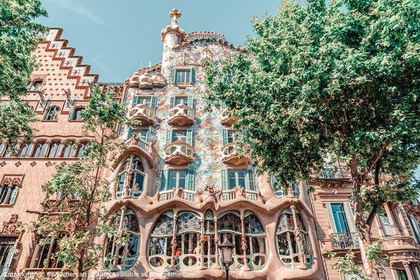 Casa Batllo Barcelona, Antoni Gaudi Architecture Framed Mounted Print by Radu Bercan