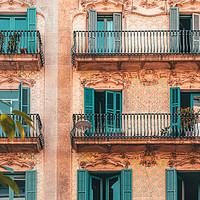 Buy canvas prints of Barcelona Facade Building, Urban Architecture by Radu Bercan