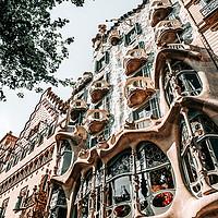 Buy canvas prints of Casa Batllo, Barcelona Architecture, Antoni Gaudi by Radu Bercan