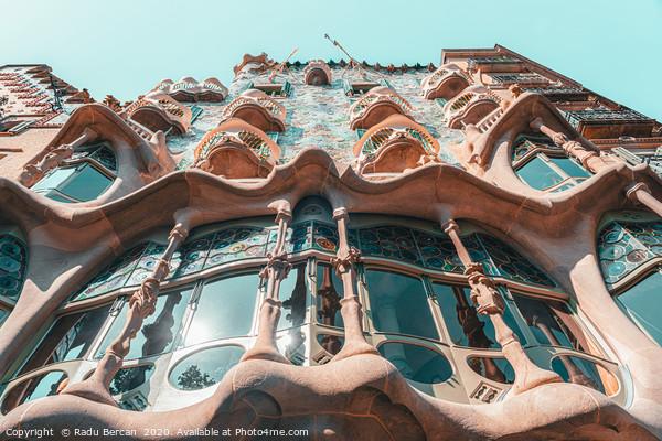 Casa Batllo, Barcelona City Travel, Antoni Gaudi Framed Mounted Print by Radu Bercan