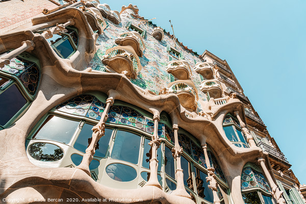 Antoni Gaudi Architecture, Casa Batllo Barcelona Print by Radu Bercan