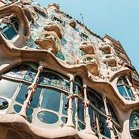Buy canvas prints of Antoni Gaudi Architecture, Casa Batllo Barcelona by Radu Bercan