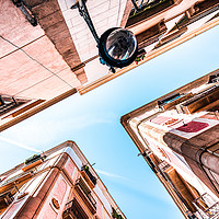 Buy canvas prints of Gothic Quarter, El Raval, Barcelona City Spain by Radu Bercan