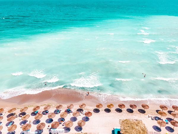 Ocean Print, Beach Print, Aerial Beach Print, Blue Acrylic by Radu Bercan
