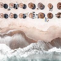 Buy canvas prints of Ocean Beach Print, Aerial Beach, Australia Beach by Radu Bercan