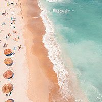 Buy canvas prints of Aerial Ocean Print, Beach Print, Summer Vibes by Radu Bercan