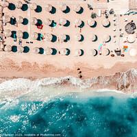 Buy canvas prints of Aerial Ocean Print, Sea Beach Print, Coastal Print, Beach Photography, Aerial Beach Print, Bondi Beach Print, Art Print by Radu Bercan