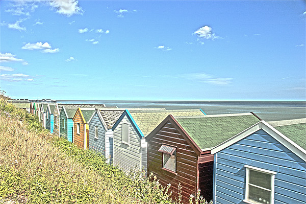 Beach Hut Summer Canvas print by Oliver Porter
