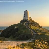 Buy canvas prints of Llanddwyn Island Lighthouse Anglesey  by Angharad Morgan