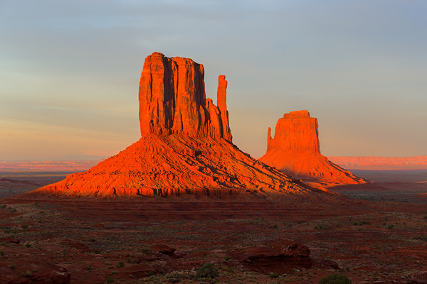 Sunset view at Monument Valley, Navajo Nation, USA Acrylic by Pere Sanz