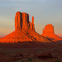 Buy canvas prints of Sunset view at Monument Valley, Navajo Nation, USA by Pere Sanz