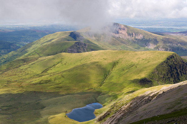 View from Snowdon Summit, Wales Canvas Print by Pere Sanz