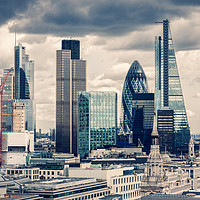 Buy canvas prints of The City of London, Cross Process  by Pere Sanz