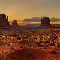 Buy canvas prints of Sunrise over Monument Valley Panorama  by Pere Sanz
