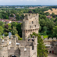 Buy canvas prints of  View of Warwick castle   by Pere Sanz