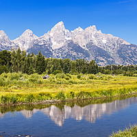 Buy canvas prints of Schwabacher landing with its reflection. Grand Tet by Pere Sanz