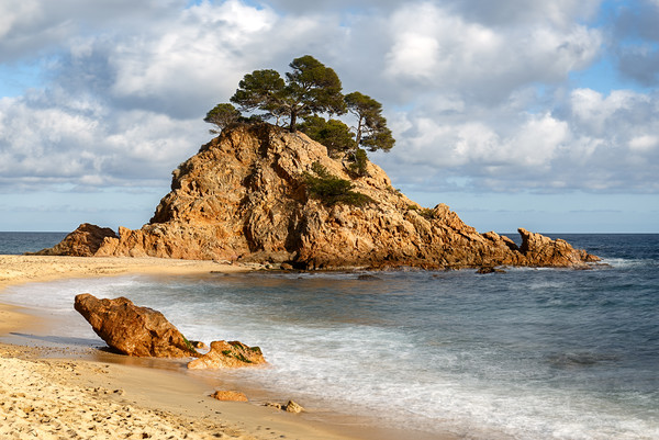 Cap Roig, a Prominent Sea Stack in Costa Brava, Ca Framed Mounted Print by Pere Sanz