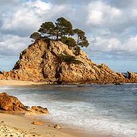 Buy canvas prints of Cap Roig, a Prominent Sea Stack in Costa Brava, Ca by Pere Sanz