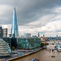 Buy canvas prints of London Skyline with City Hall, Shard and River Tha by Pere Sanz