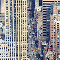 Buy canvas prints of Aerial view of NYC fifth avenue, USA by Pere Sanz