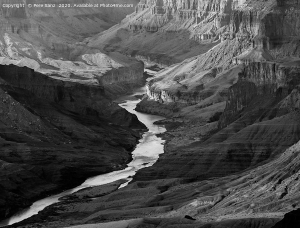 Grand Canyon and Colorado River, Arizona, USA Canvas Print by Pere Sanz