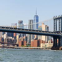 Buy canvas prints of  Manhattan Bridge   by Pere Sanz