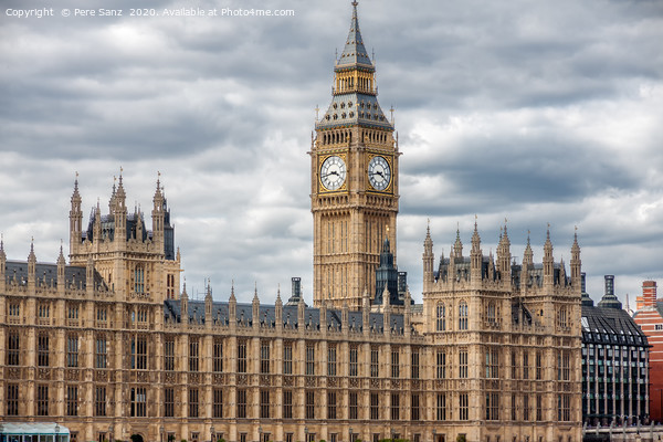 The Palace of Westminster in London.  Canvas Print by Pere Sanz