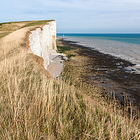 Buy canvas prints of Beachy Head and  Lighthouse in Eastbourne by Pere Sanz