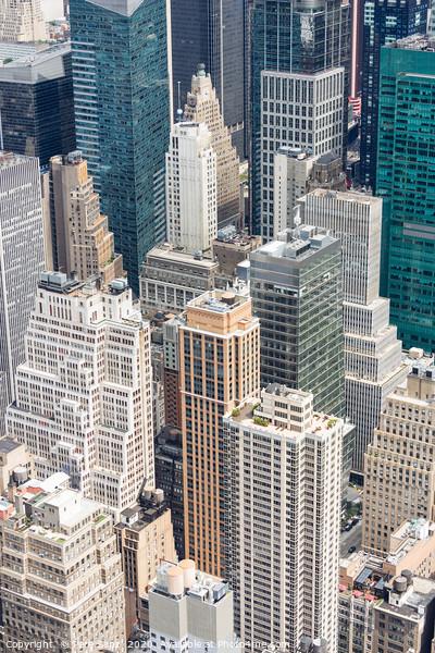 Manhattan Skyscraprers Aerial View, NYC, USA Framed Print by Pere Sanz
