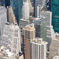 Buy canvas prints of Manhattan Skyscraprers Aerial View, NYC, USA by Pere Sanz