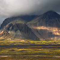 Buy canvas prints of Vestrahorn mountain on Stokksnes cape in Iceland by Pere Sanz