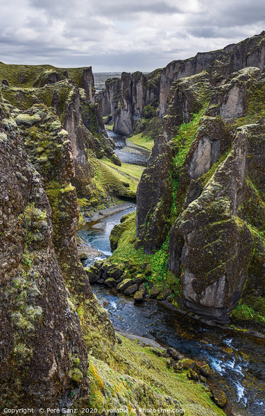 Fjadrargljufur Canyon in Iceland Canvas Print by Pere Sanz