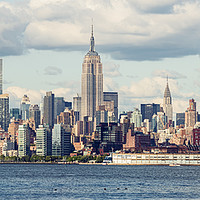 Buy canvas prints of Midtown Manhattan Panorama as seen from Jersey Cit by Pere Sanz