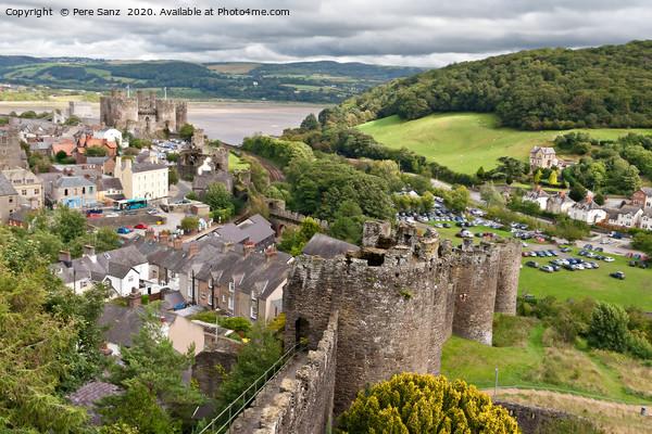 Conwy castle in Snowdonia, Wales Canvas Print by Pere Sanz