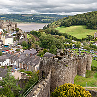 Buy canvas prints of Conwy castle in Snowdonia, Wales by Pere Sanz
