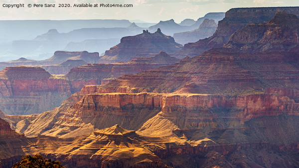 Grand Canyon South Rim as seen from  Desert View,  Framed Mounted Print by Pere Sanz