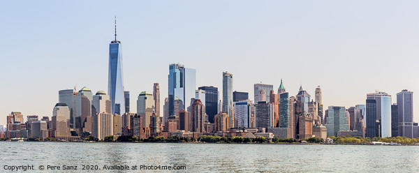 Lower Manhattan Skyline, NYC, USA Framed Mounted Print by Pere Sanz