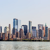 Buy canvas prints of Lower Manhattan Skyline, NYC, USA by Pere Sanz