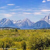 Buy canvas prints of Panoramic view of Grand Teton National Park, Wyoming, USA by Pere Sanz
