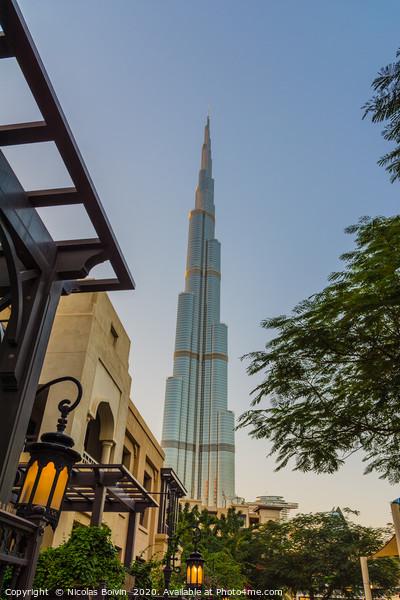 Burj Khalifa tower Framed Mounted Print by Nicolas Boivin