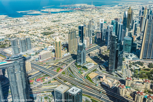 Burj Khalifa view on Dubai skyscrapers Canvas Print by Nicolas Boivin